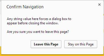 Confirm navigation