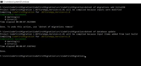 EF Update the Database