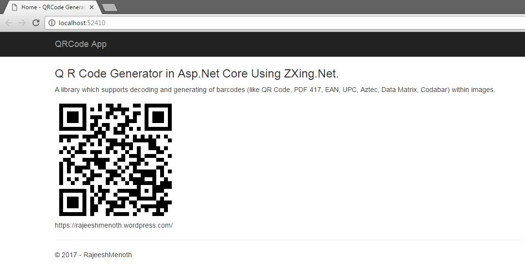 QR Code Generator in ASP NET Core Using Zxing Net - DZone
