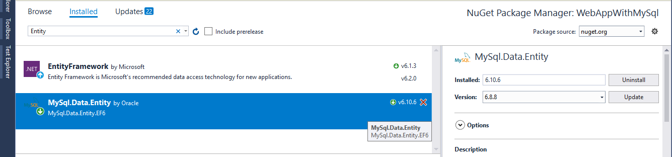 Code First Migration – ASP NET MVC 5 With EntityFrameWork & MySql